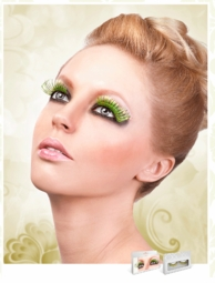 Neon Green and Gold Lashes for $7.00