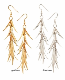 "4"" Dangle Spiky Earrings"