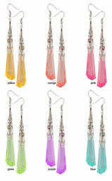 "3.75"" Long Crystal Earrings"
