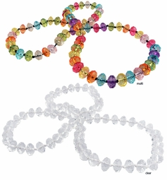 Faceted Clear Bead Necklace