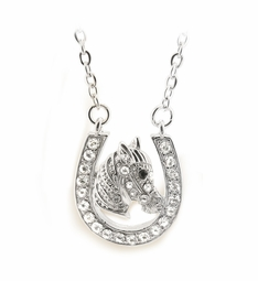 Crystal Horse Shoe Necklace