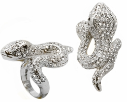 Jeweled Snake Ring