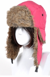 Winter Hat with Faux Fur Trim