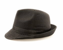 Black Wool Fedora Hat