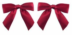 "3"" Wide Red Satin Ribbon Hair Clips"