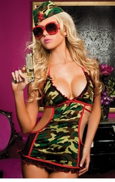 Army Hottie Lingerie Costume