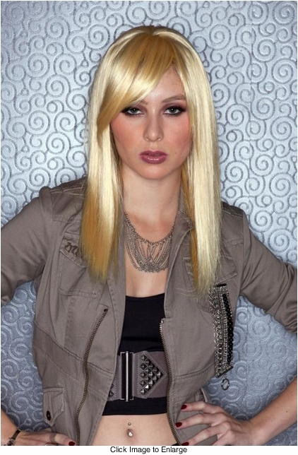 Medium Length Apricot Blonde Wig