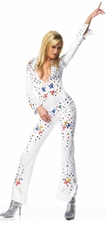 Elvis Jeweled Catsuit Costume With Matching Belt