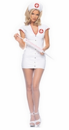 Sexy White Vinyl Nurse Costumes