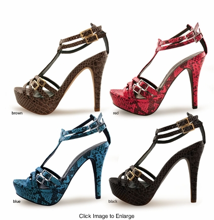 "SALE** 4.5"" Python Print Shoes ""Elexis"" from Michael Antonio"