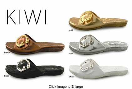 Super Comfort Padded Sandals with Buckled Strap