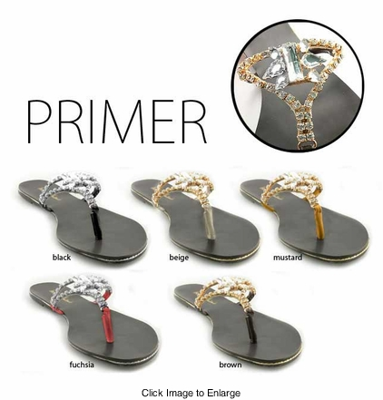 "Gorgeous Rhinestone Jeweled Flip Flops ""Primer"" from Michael Antonio"
