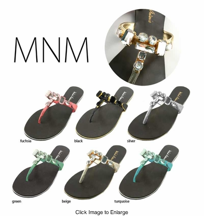 Stunning Jeweled Flip Flops from Michael Antonio