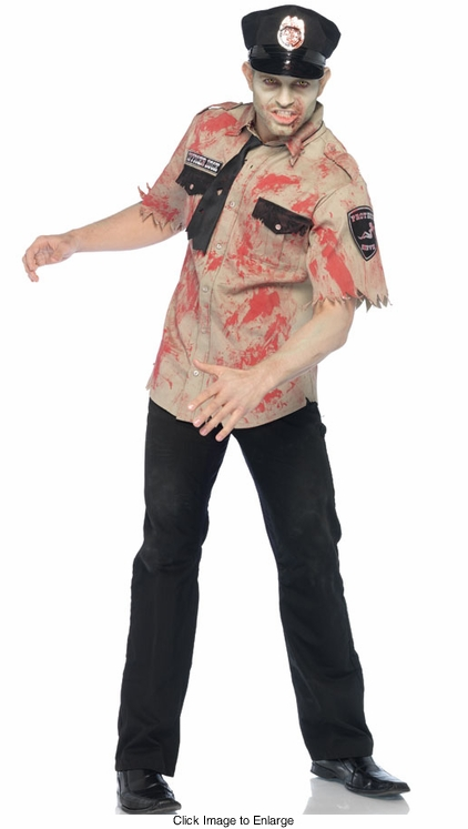 Zombie Deputy Costume for Men