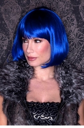 Dark Blue Bob Wig with Bangs