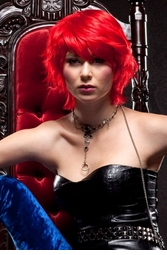 Edgy Firecracker Red Wig