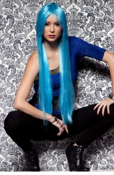 Waist Long Wig in Cool Blue
