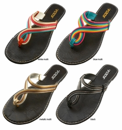 Swirl Slip Flops Summer Sandals