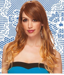 Long Tousled Layers Wig with Rich Bangs