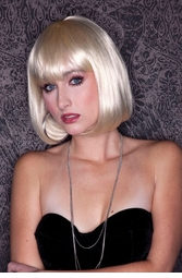 California Blonde Bob Wig with Bangs