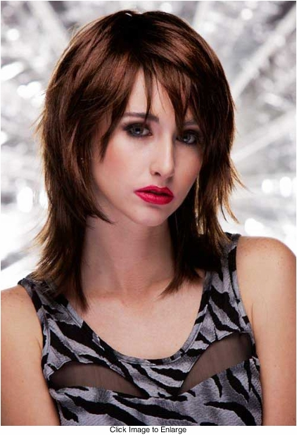Vamp Shoulder Length Wig in Chocolate