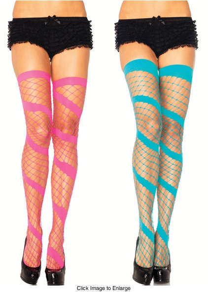 Rave Spiral Net Stockings