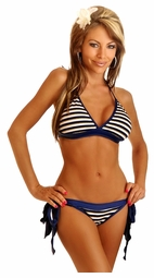 Pin-Up Sailor Pucker-Back Bikini