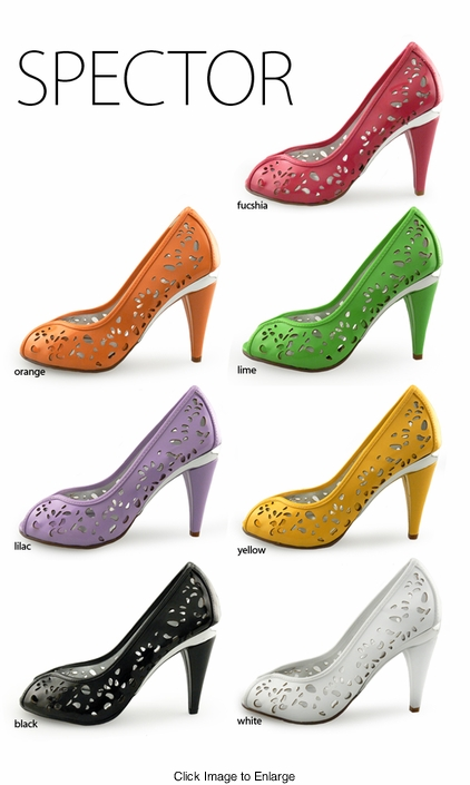 "3.5"" Cutout Peep Toe Pumps ""Spector"" from Michael Antonio"