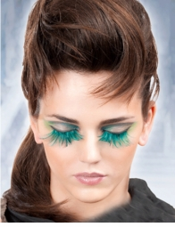 False Eyelashes -Green Lashes