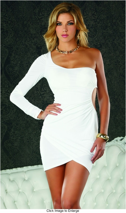 White Asymmetric Dress
