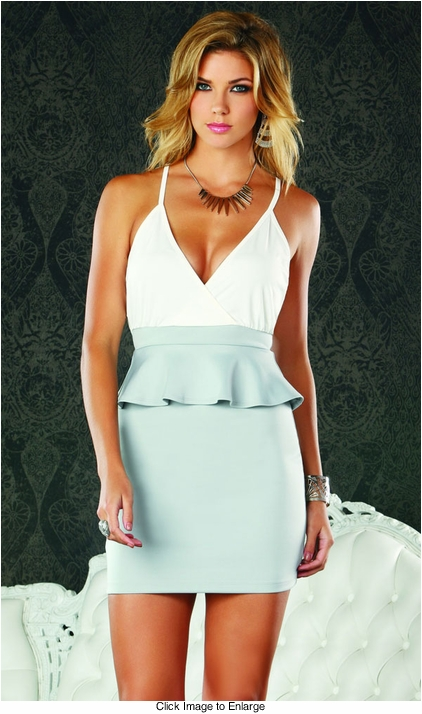 Peplum Color Blocked Dress