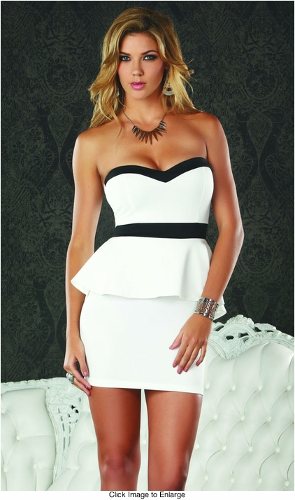 Night and Day Strapless Dress