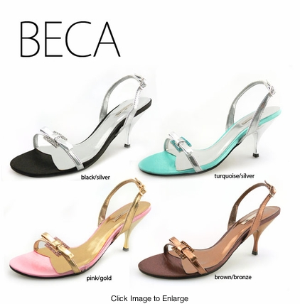 "3"" Sandals with Crystals ""Beca"" from Michael Antonio"
