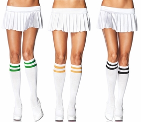 Athletic Knee Highs with Stripe