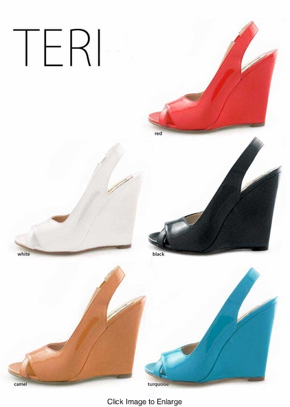 "4.15"" Bombshell Wedge Sandals ""Teri"" from Michael Antonio"