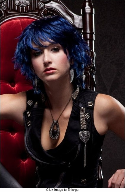 Edgy Midnight Blue Wig