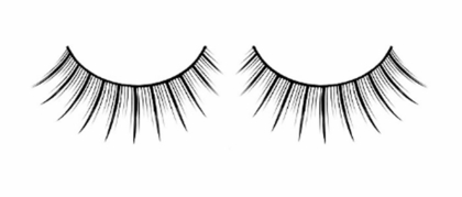 Medium Length Black and Silver Lashes