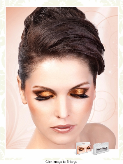 False Eyelashes -Textured Brown and Black Lashes