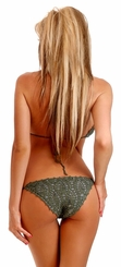 Olive Green Crochet Bikini with Full lining