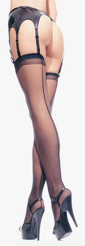 Thigh High Stockings With Seam