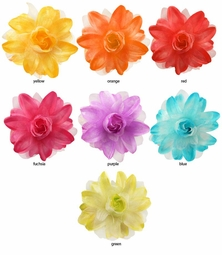 "5"" Chiffon and Satin Flower Hair Clip"
