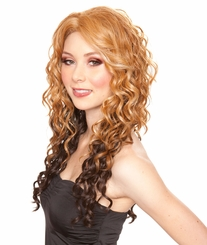 Heat and Styling Friendly Lace Front Wig with Long Cascading Curls