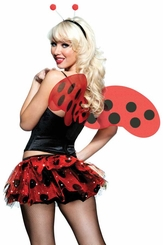 3-Piece Ladybug Costume Kit with Tutu Skirt, Wings and Headband