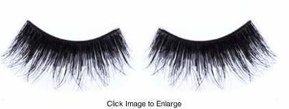 Textured Long Black Lashes with Extra Volume