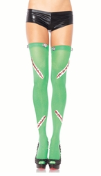 FrankenBabe Opaque Stockings with Bolts and Stitches