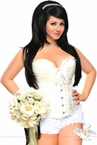 Ivory Strapless Brocade Bridal Corset