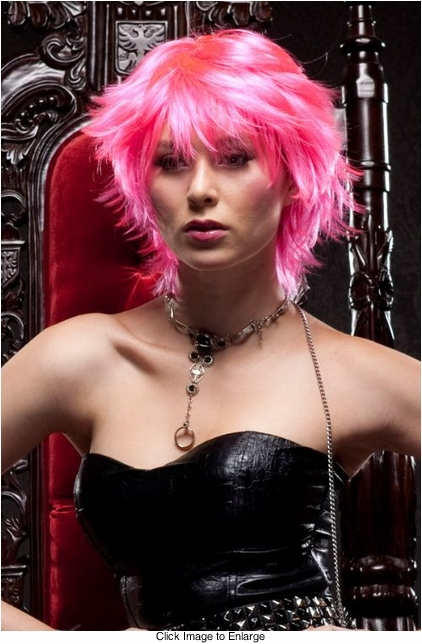 Edgy Pink Explosion Wig