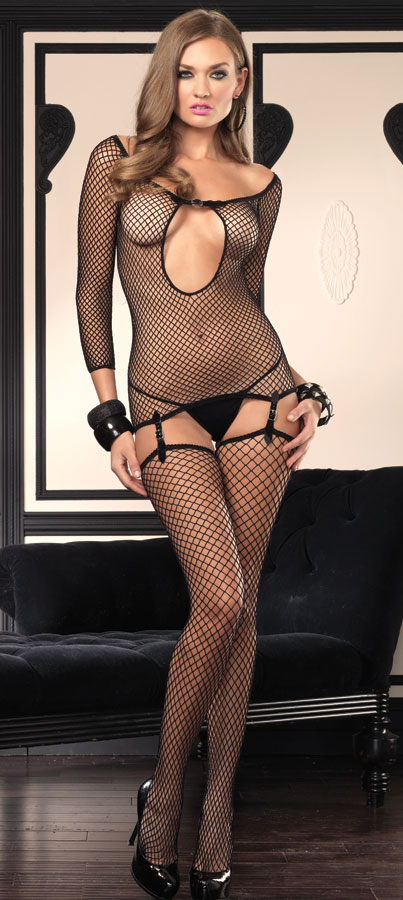 Garter Tee with Thigh High Stockings and G-string