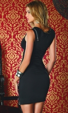 Black Dress with Zipper Detail