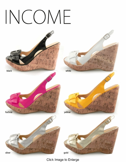 """4"""" Faux Cork and Patent Leather Summer Sandals"""